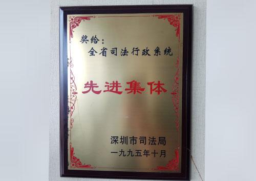 1995全省司法行政系统先进集体