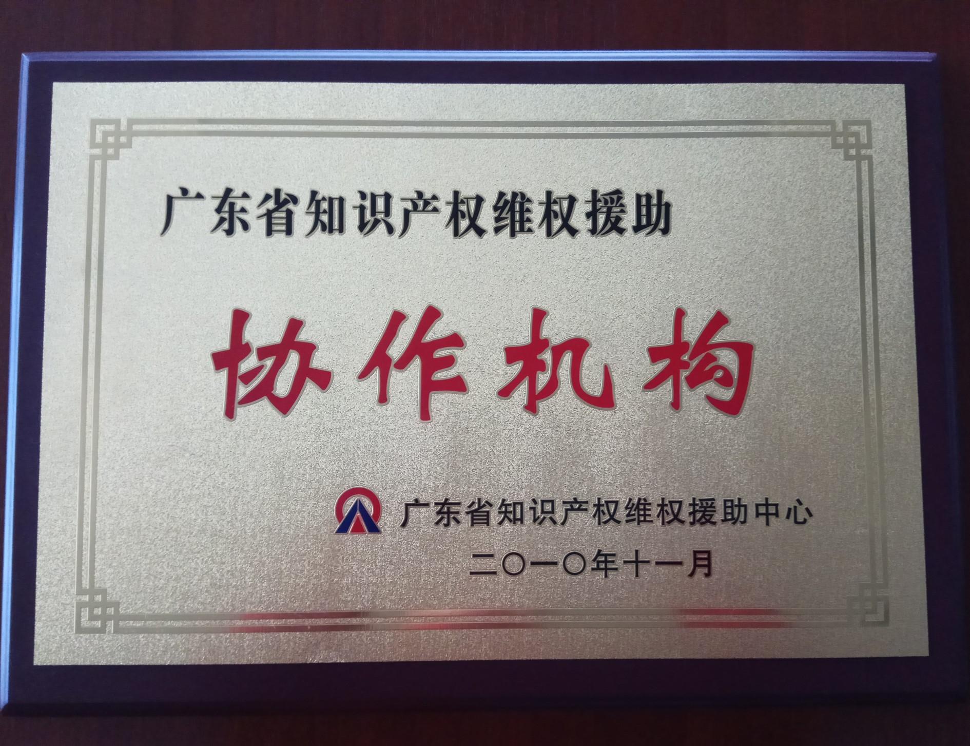 2010广东省知识产权维权援助合作机构