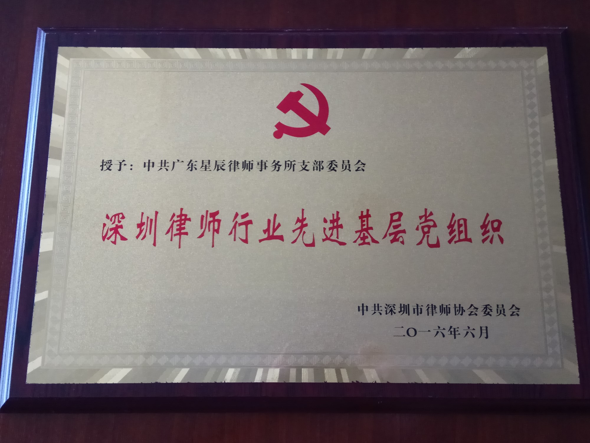 2016深圳市万博首页登录APP下载行业先进基层党组织